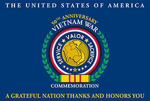 USA Vietnam Ware Commemoration flag
