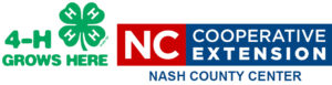 4-H Grows Here logo and N.C. Cooperative Extension Nash County logo