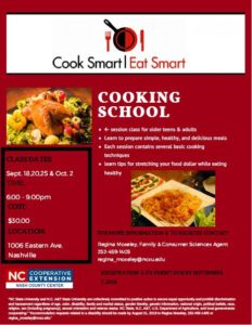 Cover photo for 2018 Cook Smart Eat Smart Cooking School