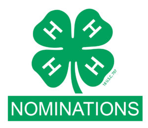 Cover photo for 4-H 2019 NOMINATIONS - Due Jan 6th