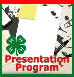 4-H Presentation program flier