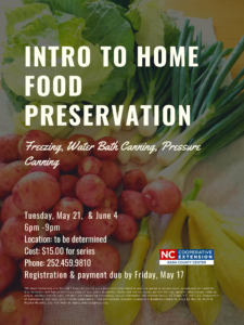 Intro to Hiome Food Preservation flyer image