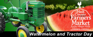Cover photo for Watermelon and Antique Tractor Day at the Market