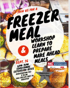 Cover photo for Freezer Meal Workshop