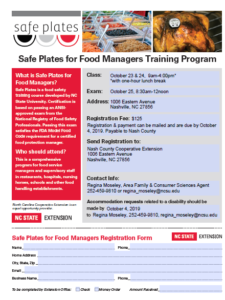 Cover photo for Safe Plates Food Safety Certification Class