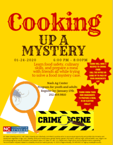 Cover photo for Cooking Up a Mystery