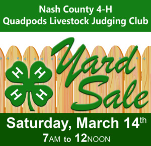 Cover photo for 4-H Yard Sale - March 14th