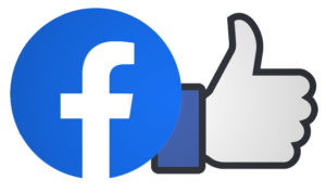 "Facebook logo with a ""Like"""