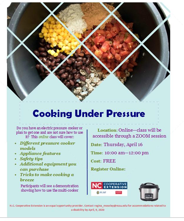 Cooking Under Pressure flyer image