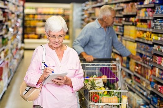 Adults shopping
