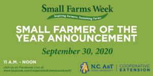 Cover photo for 2020 Small Farmers of the Year