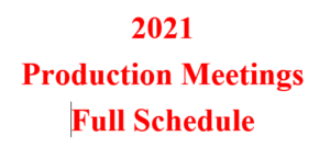 Cover photo for 2021 Production Meeting Registration Details