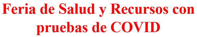 Health Fair header image - Spanish
