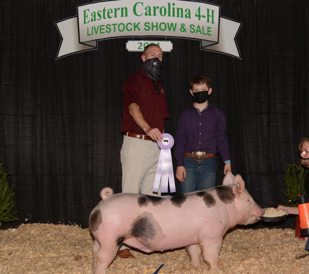Reserve Champion Market Hog - Evan May