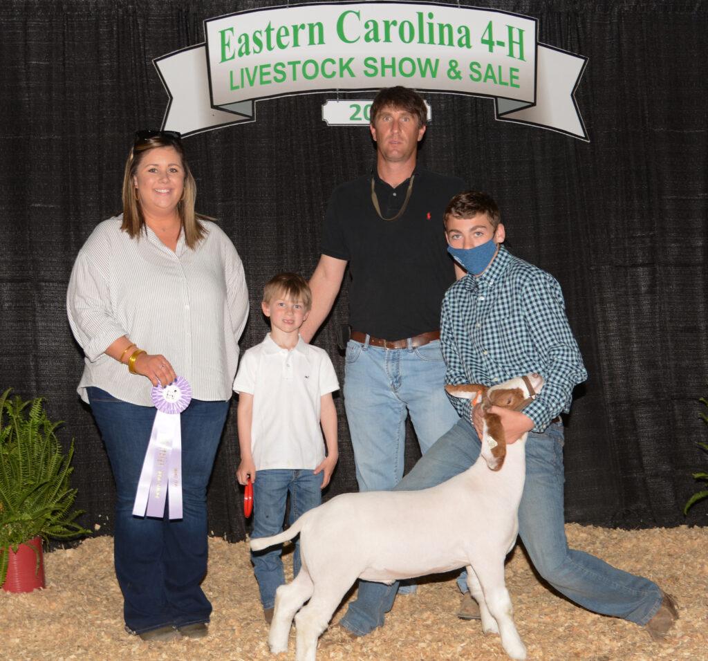 Reserve Champion Market Goat - Hunter Webb