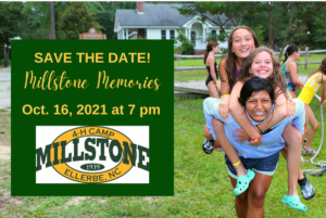 Cover photo for 4-H Millstone Memories - October 16 SAVE THE DATE